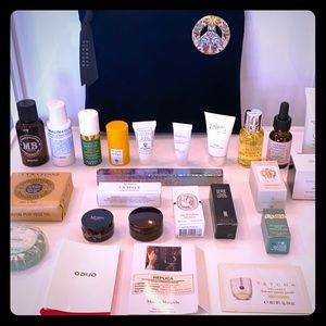 Peace Pin Barneys New York Bag w lux samples
